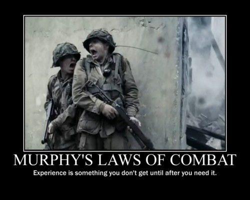 MILITARY HUMOR: Murphy's law of combat - Military humor