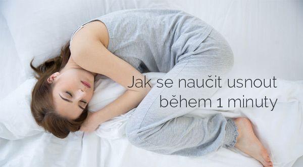 Jak se naučit usnout během jediné minuty   ProKondici.cz