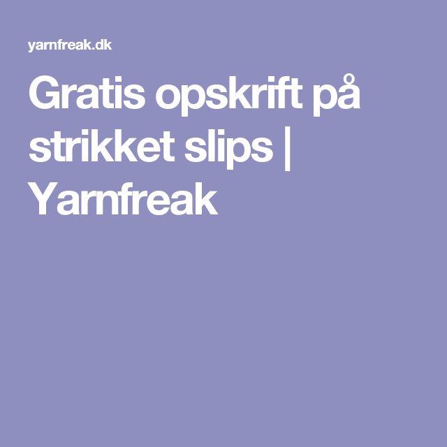 Gratis opskrift på strikket slips | Yarnfreak