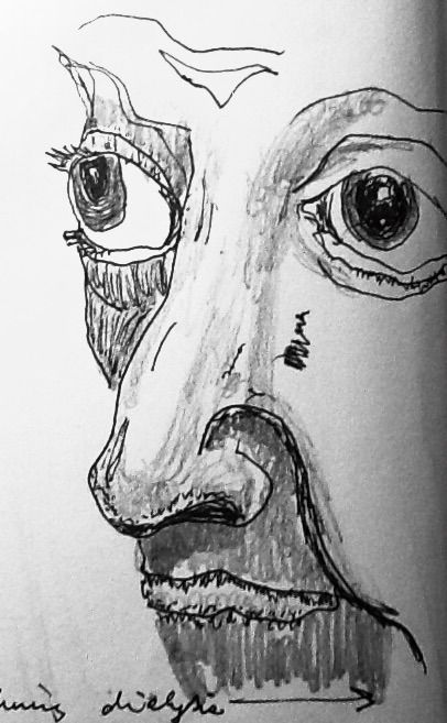 quick ink stetch test made during my 4 hour dialysis treatment