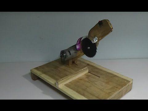 Nasıl Kesme Makinası, TABLO SAW Yapmak, Takım 1'de testere 2 kesti - YouTube