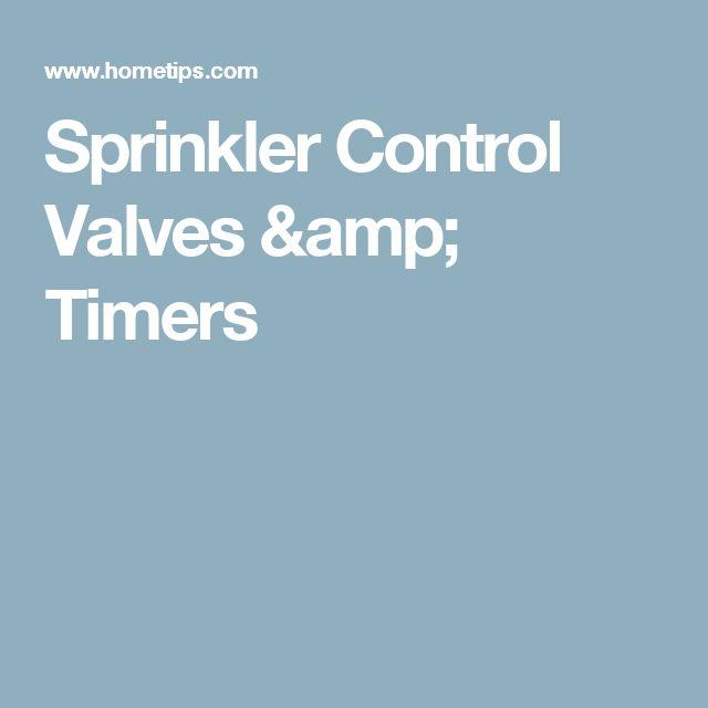 Sprinkler Control Valves & Timers