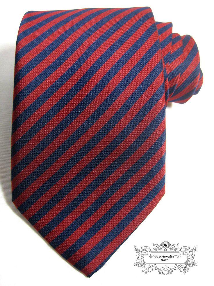 seidenkrawatte italienische marken krawatte streifenkrawatte dunkelrot blau ebay fashion. Black Bedroom Furniture Sets. Home Design Ideas