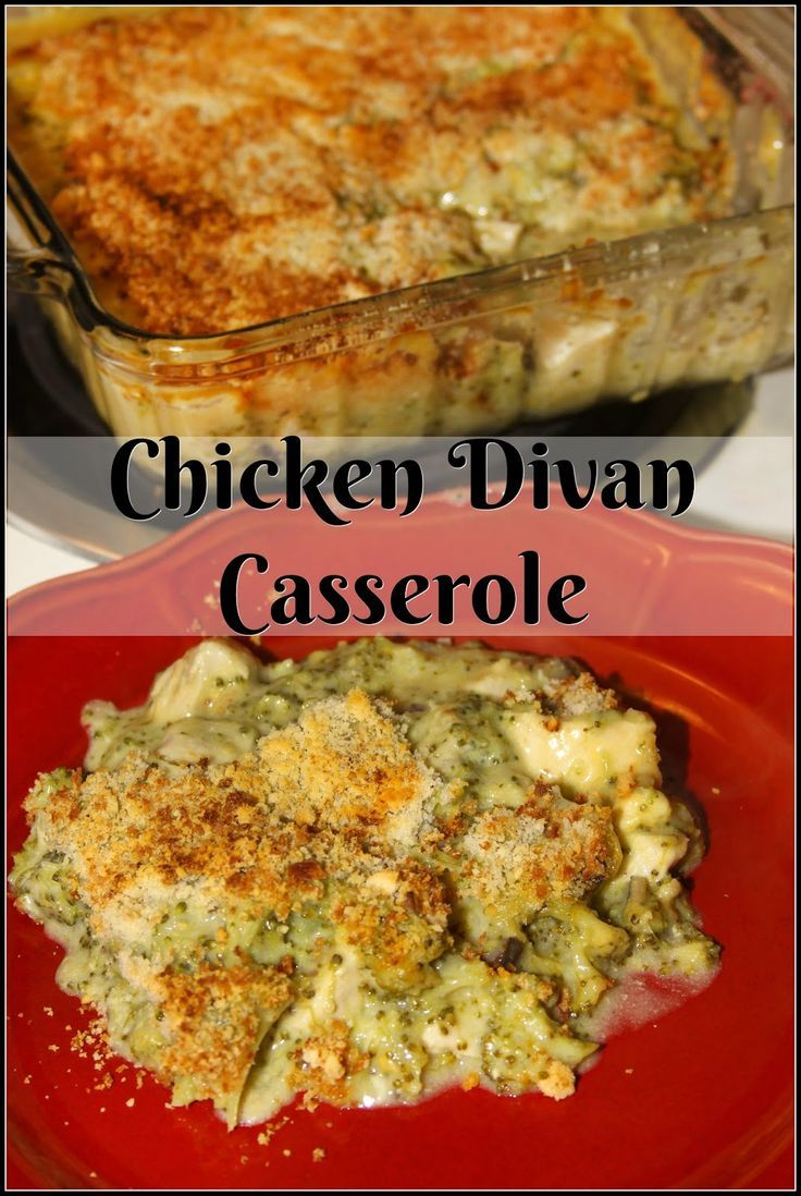 Chicken Divan Casserole - a low fat yet hearty meal!