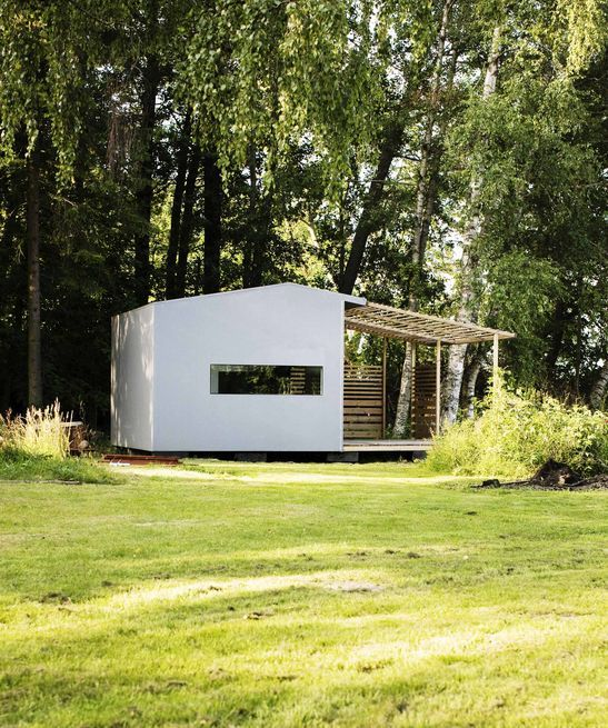 Tiny prefab house can be built in two days and include a shaded deck space, plus full insulation and electricity. Swedish architect Jonas Wagell