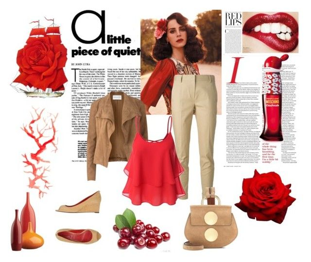 """""""Casual Sunday Outfit"""" by andrejae ❤ liked on Polyvore featuring Burberry, Amanda Wakeley, Cesare Paciotti, Moschino, Chloé and CB2"""