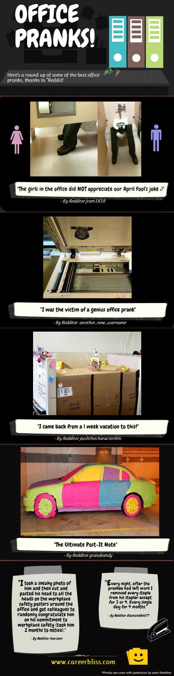 In honor of April Fools day, we tracked down some office great pranks from reddit. Check the out below!