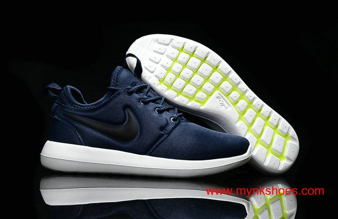 Latest Nike Roshe Two Dark-blue Black White Womens Shoes