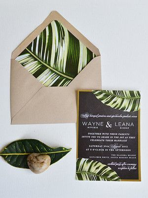 Faire-part mariage tropical - tropical wedding invitation
