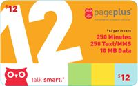 Prepaid Cell Phone Plans | The 12 | Page Plus Cellular $12 a month for 250 mins and 250 texts plus 10 MB of data