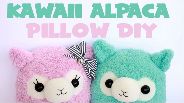 Kawaii Alpaca Pillow Tutorial - YouTube