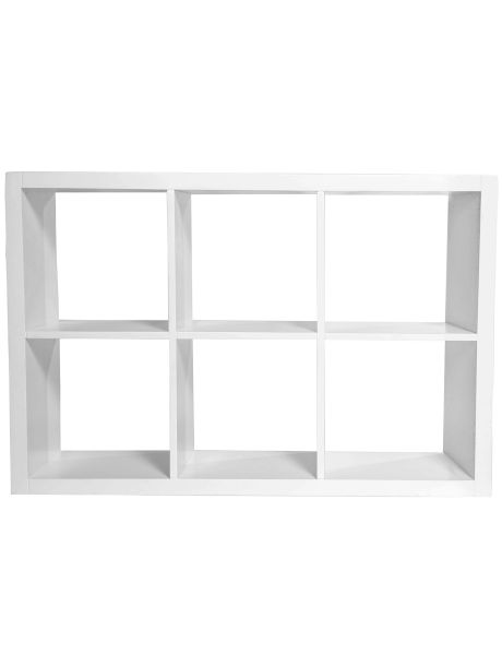 With a classic white finish, this shelving unit will be a practical addition to your home.