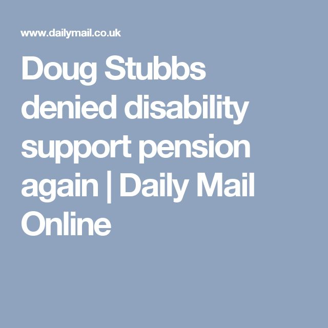 Doug Stubbs denied disability support pension again | Daily Mail Online