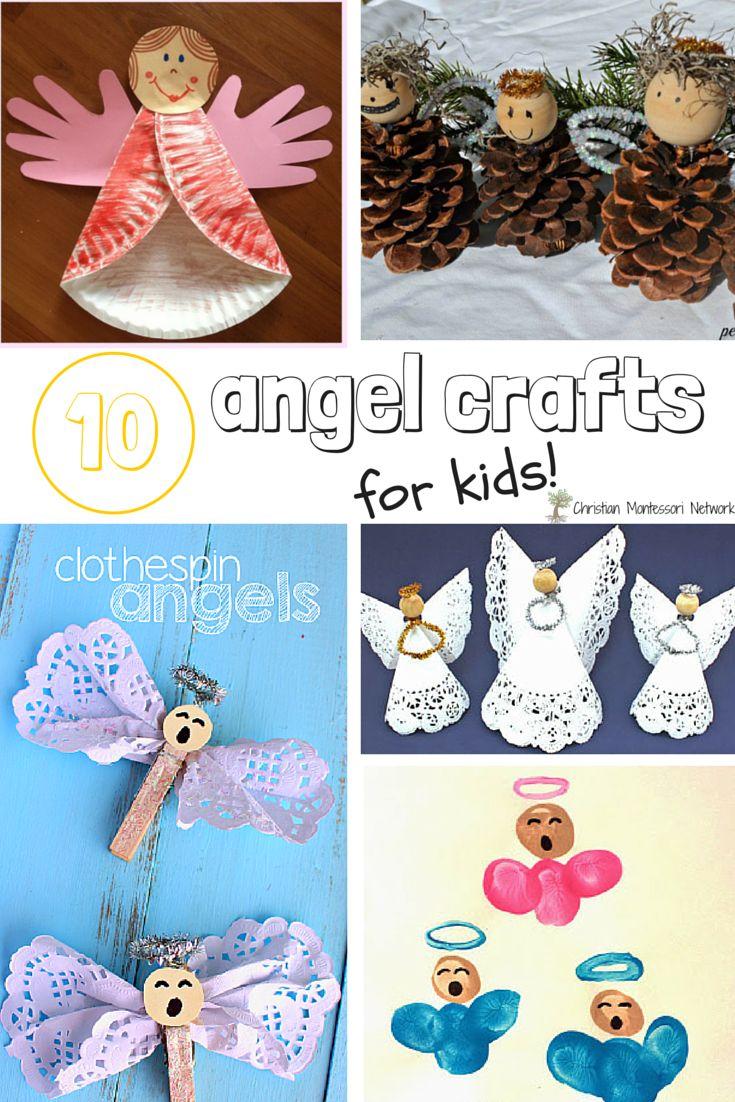 Vacation bible school crafts ideas - 10 Angel Craft For Kids Bible School Craft Ideas