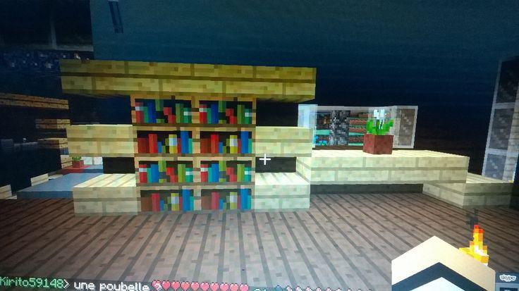Meuble tv biblioth que table minecraft pinterest tvs for Minecraft meuble