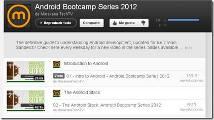 bootcamp http://www.android.com.gt/aprende-a-programar-android-gracias-a-youtube#.Un1tz3DPSP0