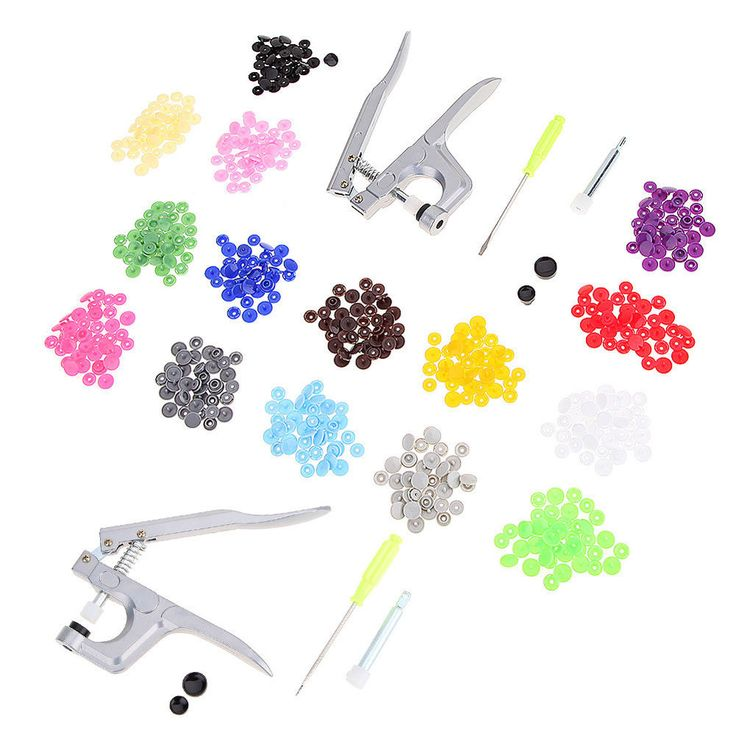 Fastener Snap Pliers KAM Button+150Pcs T5 Plastic Resin Press Stud Cloth Metal  #Doesnotapply
