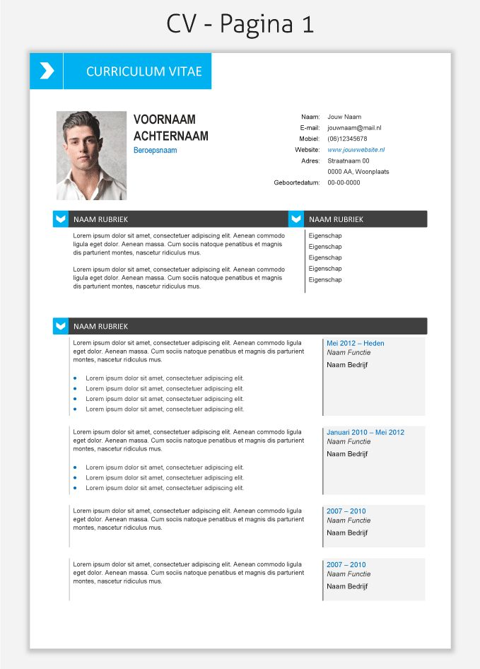 cv template 267 om te downloaden