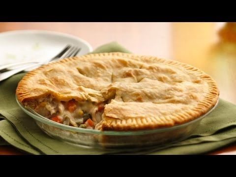 Classic Chicken Pot Pie recipe from Pillsbury.com I used fresh veggies just needed the ratios of liquids and flour eat. Add a cube of chicken bouillon for extra flavor!