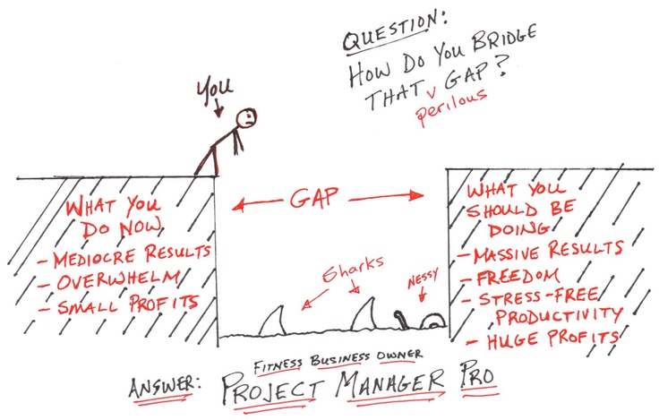 Bridging the gap Fitness business, Project management
