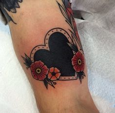 Black heart #traditional #tattoo