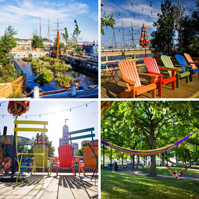 The brand-new Spruce Street Harbor Park in Philadelphia (Photos by M. Edlow for Visit Philadelphia)