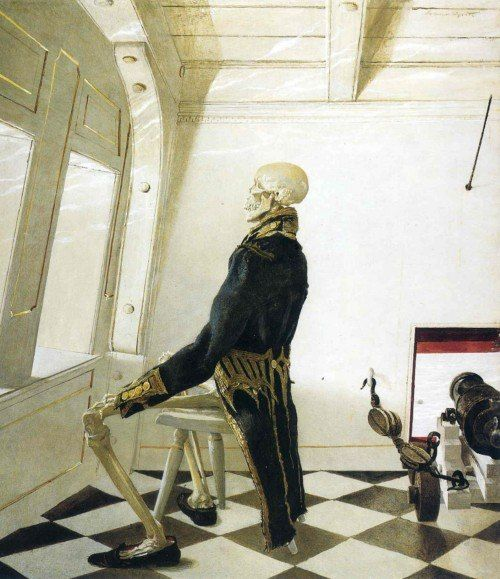 by Andrew Wyeth (Date unknown) #art #painting