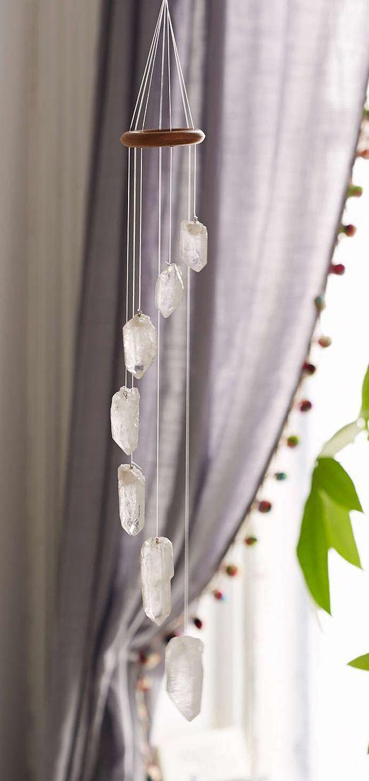 White Quartz Crystal Mobile