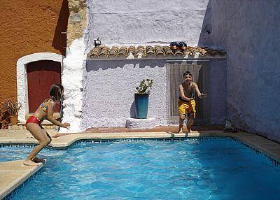 Enjoying the Pool at this beautiful holiday rental villa #spain #holidays #villas