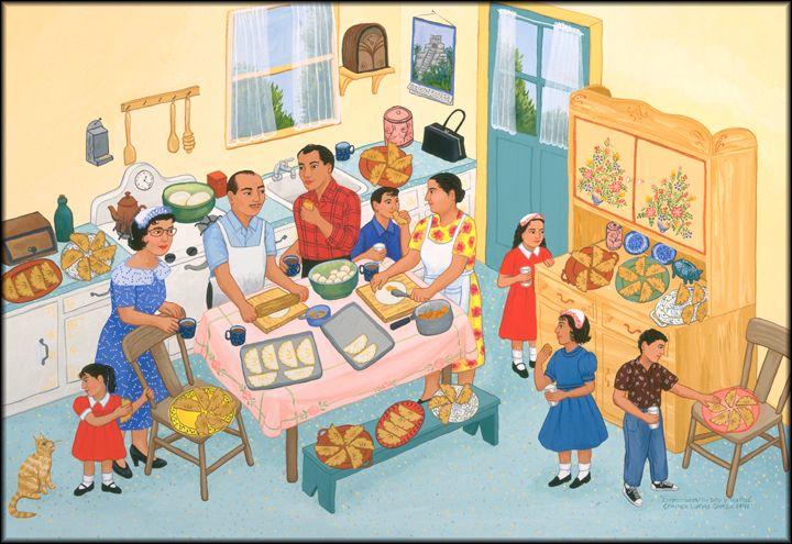 165 mejores im genes de spanish familia unit en pinterest for Mural una familia chicana