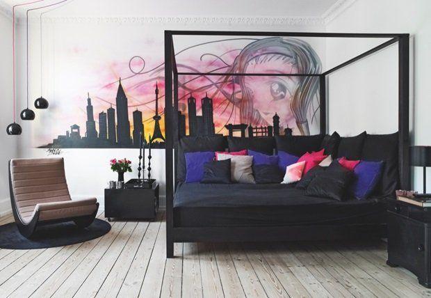Himmelseng brugt som sofa