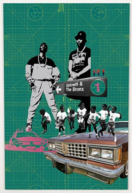 Bronx £195.00  By Phil Bedford   A1 (84.1 x 59.4 cms)   Digital collage. Inkjet print on heavyweight art paper