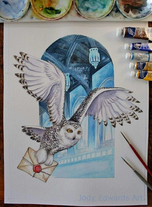 """""""Owl Mail"""" based on Hedwig from Harry Potter"""