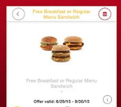 FREE McDonald's Full Sized Sandwich! No Purchase Nessesary ... The membership to this shopping club is Free - https://www.youtube.com/watch?v=CnwRrtZwS6o