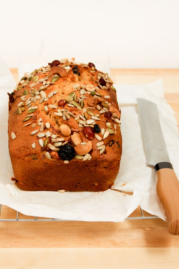 A Quick And Easy Sweet Potato Trail Mix Loaf