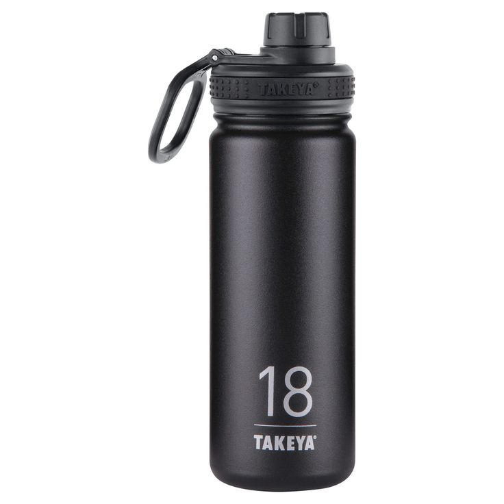 Takeya Thermoflask 18oz Insulated Stainless Steel Water Bottle - Black