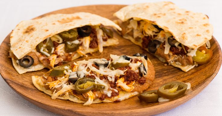 Authentic recipe for Nacho Quesadillas using traditional ingredients.