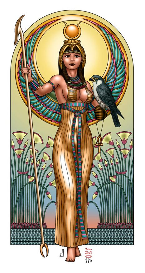 Original pinner: the revered mother of Horus and the wife and sister of Osiris, Isis is widely revered as one of the most beloved and worshipped Goddesses throughout history and one of the greatest sorceresses of all time. Associated with the divine powers of motherhood, marital devotion, and healing, Isis is said to have brought Osiris back to life and aided in his becoming the powerful god of the underworld for which he is now known.