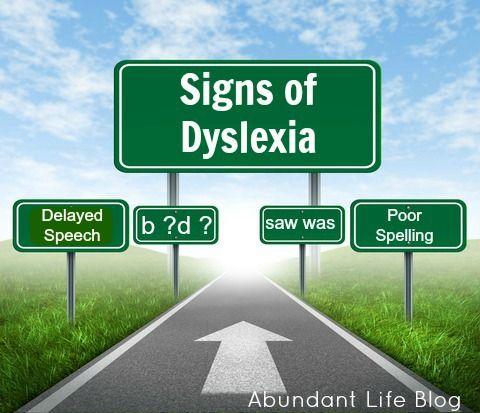Signs of Dyslexia | Abundant Life