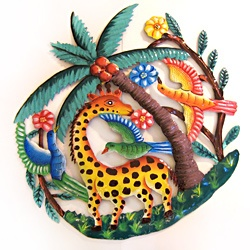 @Overstock - Accent any room in your home or office with this handcrafted, decorative tropical island wildlife wall art, made by gifted artisans from recycled oil drums.http://www.overstock.com/Worldstock-Fair-Trade/Recycled-Steel-Drum-Tropical-Island-Wildlife-Wall-Art-Haiti/6827732/product.html?CID=214117 $86.39