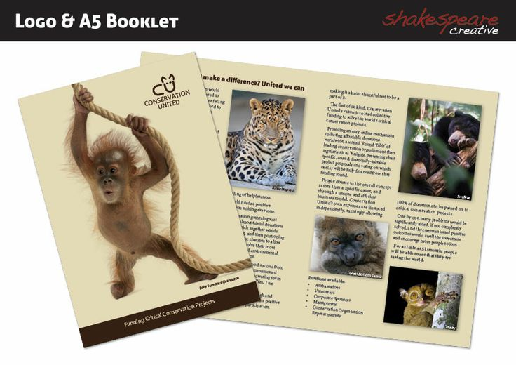 A5 booklet for Conservation United.