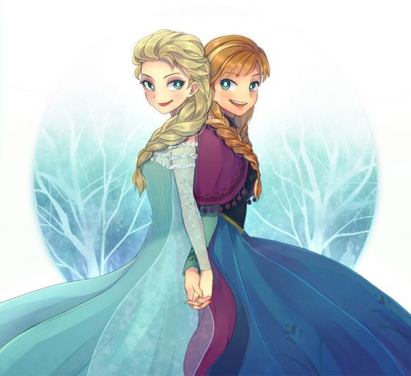 17 best images about frozen on pinterest disney chibi and blue dresses - Princesse anna et elsa ...