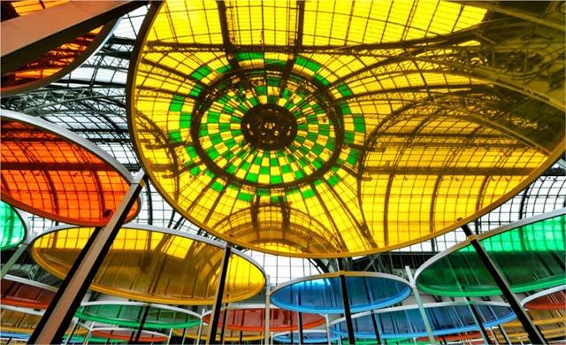 Daniel Buren Excentrique's At The Monument Grand Palais In Paris