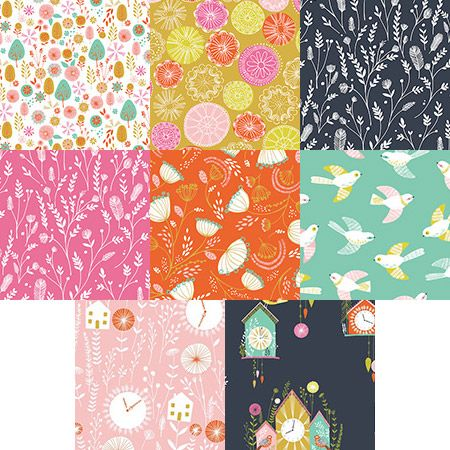 Cuckoo's Calling fat quarter bundle. Australian online supplier of Dashwood Studio's Cuckoo's Calling collection by Bethan Janine. Fast delivery Australia and world wide.