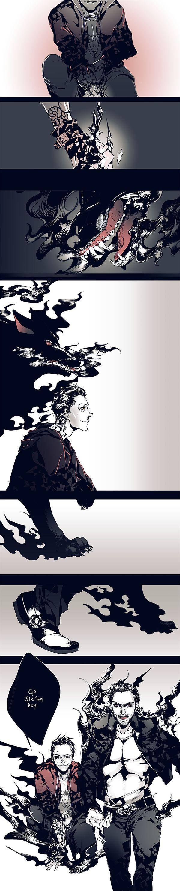 """I am the Fire starter, You are my Flame.""  Demon Summoner!Stiles and Werewolf Derek."