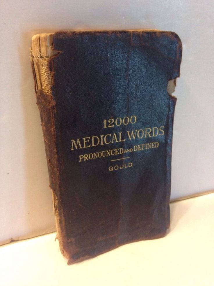 Antique1895 Pocket Medical Dictionary Gould Leather Bound