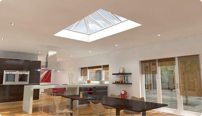 Eurocells Skypod Flat Roof Skylight Interior Design