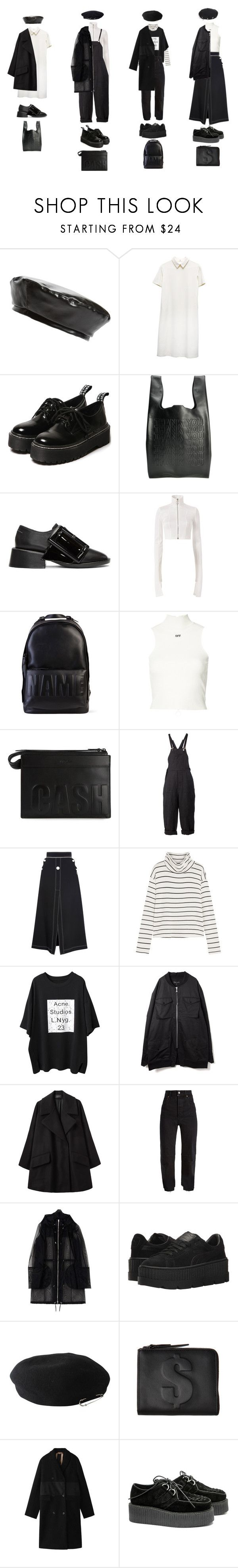 """""""Untitled #1319"""" by jayda-xx ❤ liked on Polyvore featuring Steve Madden, Cast of Vices, MM6 Maison Margiela, Off-White, 3.1 Phillip Lim, Aganovich, E L L E R Y, Splendid, Passarella Death Squad and Simone Rocha"""
