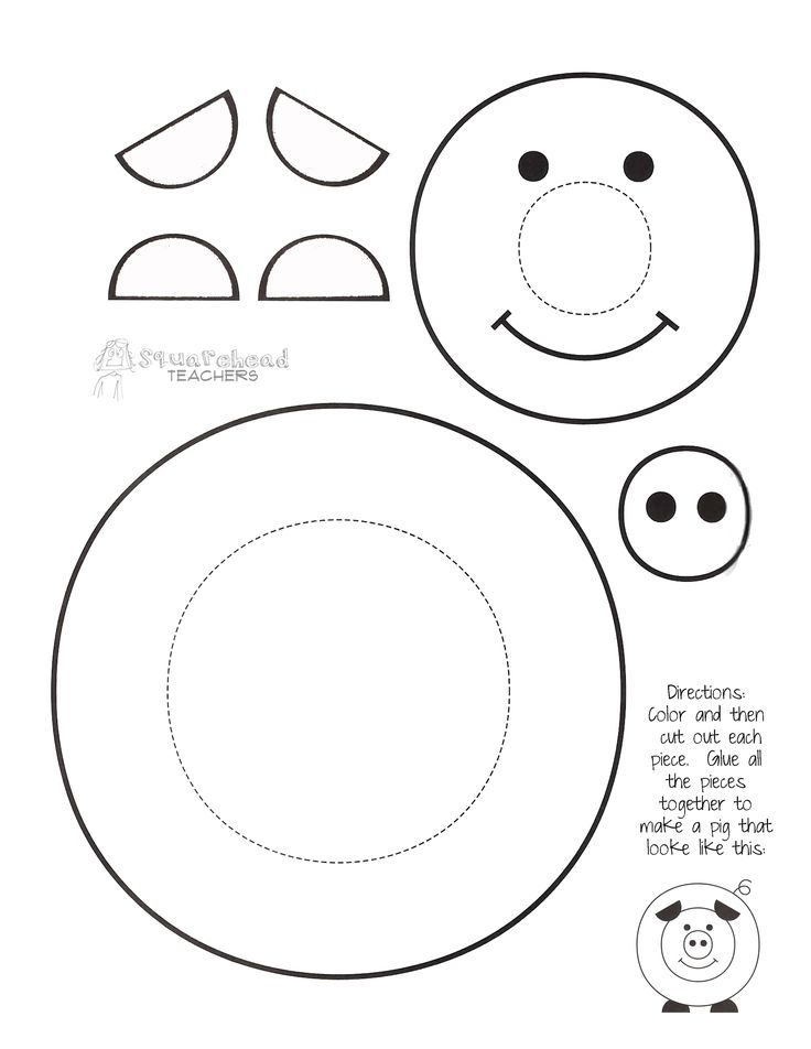 Here's a fun, easy craft project that's simple enough that my kindergarten kids figured it out with hardly any help. Each kid decorated their pig however they wanted. Then they told each other a st...