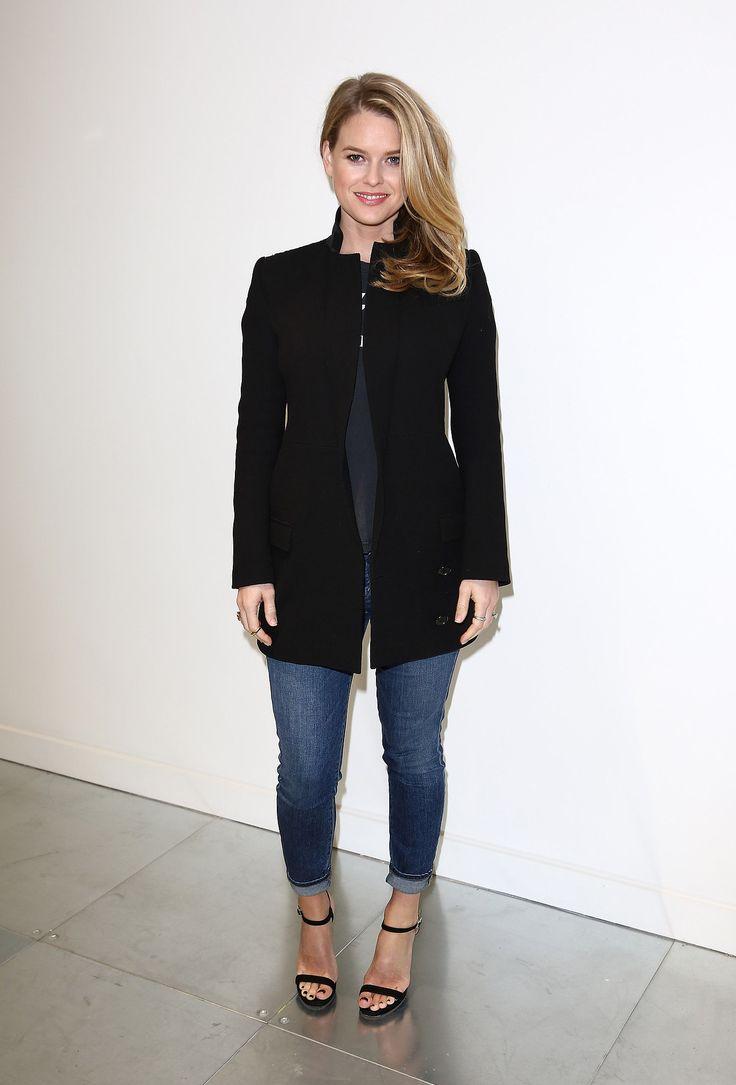 The actress kept it casual when she attended the Antonio Berardi show.